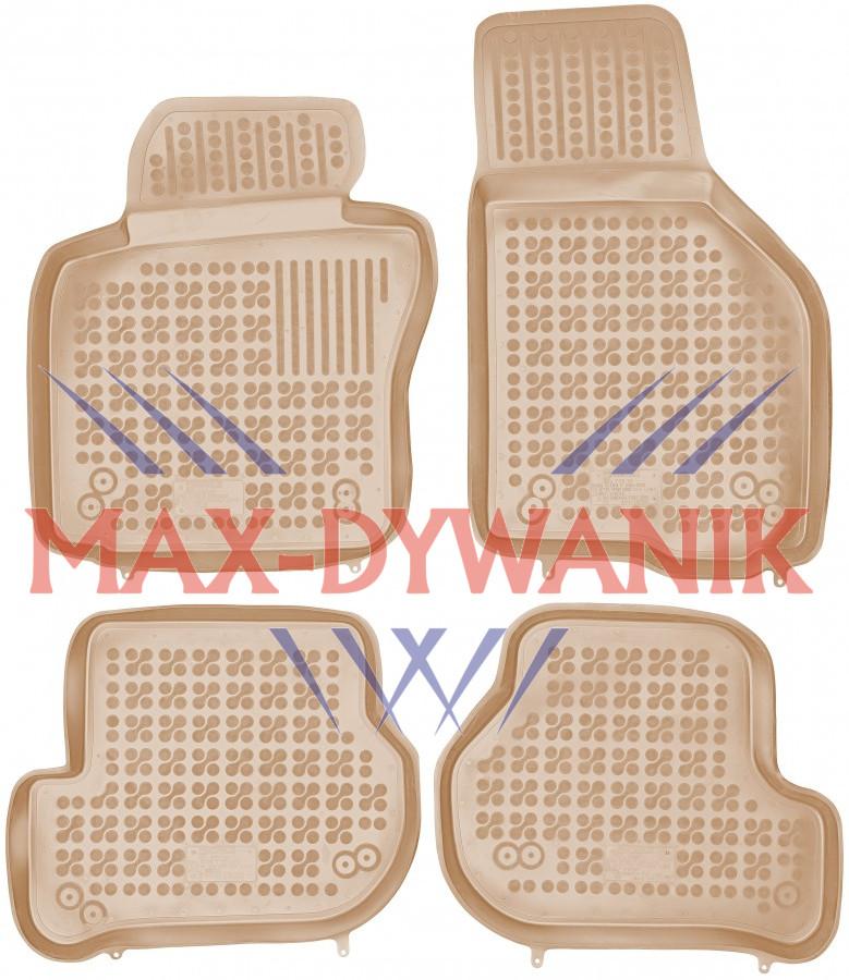 Rezaw-Plast beżowe gumowe dywaniki samochodowe VW Golf V Od 2003-2009r.