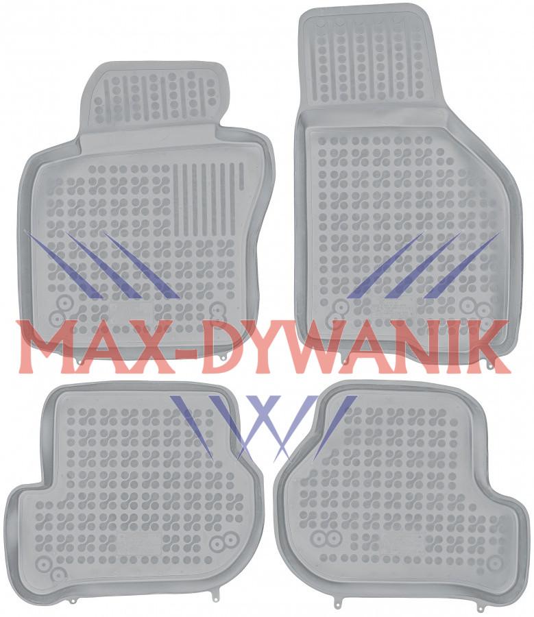 Rezaw-Plast popielate gumowe dywaniki samochodowe VW Golf V Od 2003-2009r.