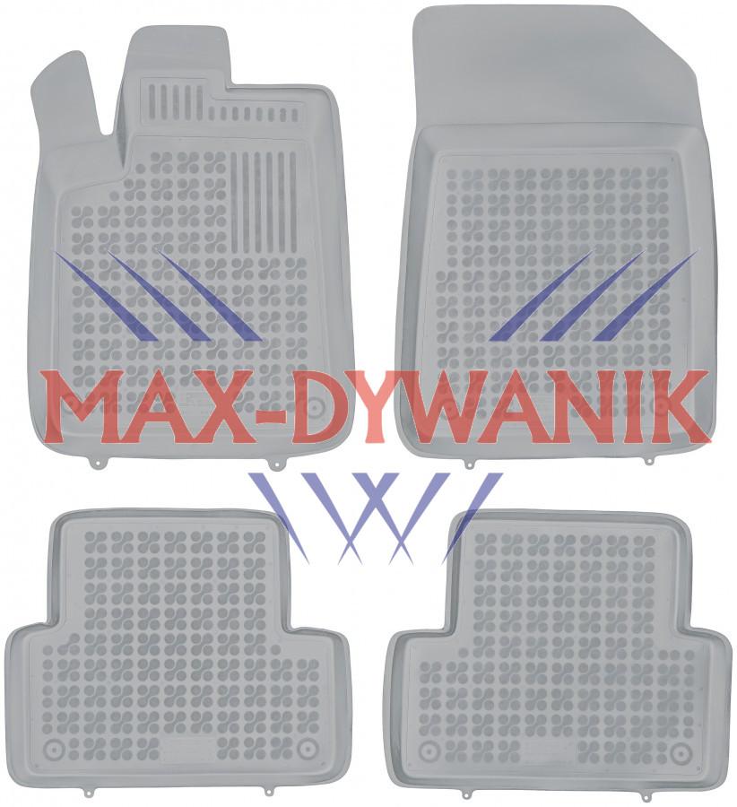Rezaw-Plast popielate gumowe dywaniki samochodowe do Citroen C5 od 2001-2008r